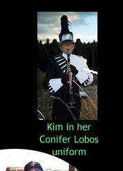 Kim in her Band Uniform